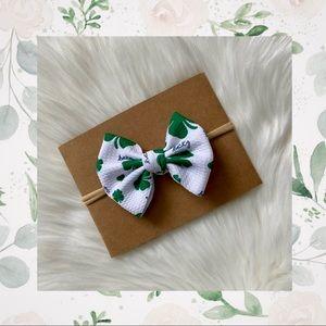 🍀St Pattys Day Classic Clip In or Bow on Nylon!